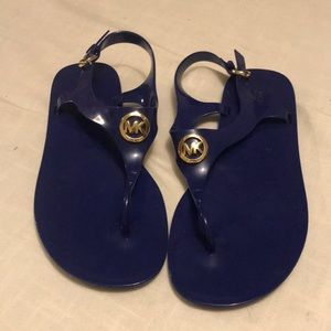 Michael Kors Royal Blue Jelly Sandals size 9